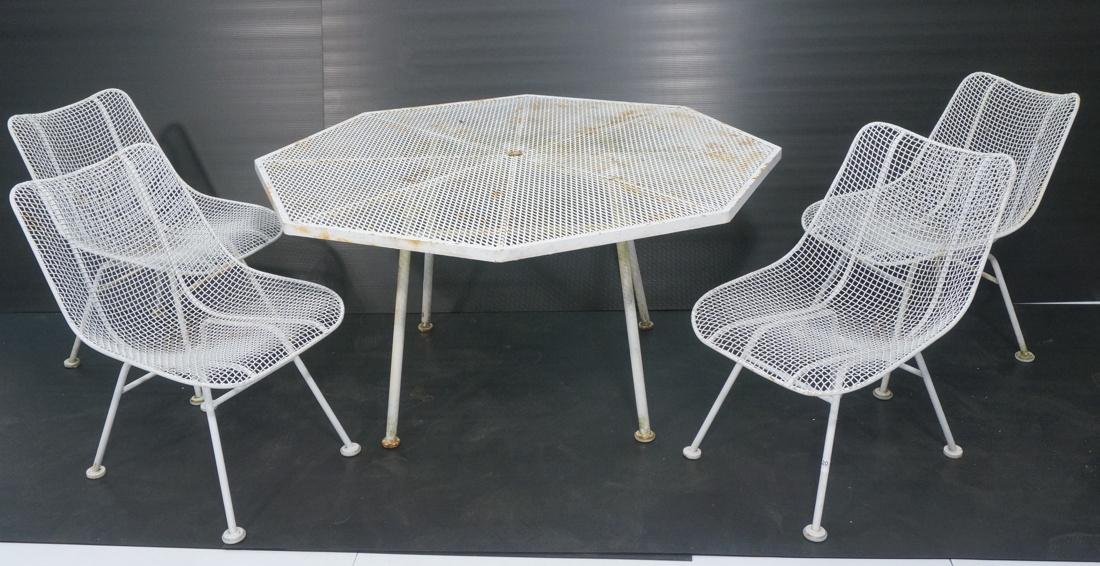 5 pc RUSSELL WOODARD Patio Table Side Chairs. Oct
