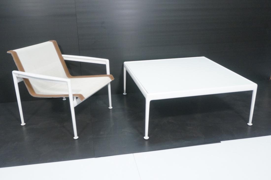 2 pc RICHARD SCHULTZ Garden Table & Lounge Chair.