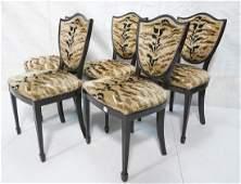Set 5 Decorator Modern Shield Back Dining Chairs