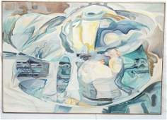 Lg Oversized Abstract Modernist Oil Painting. Pas