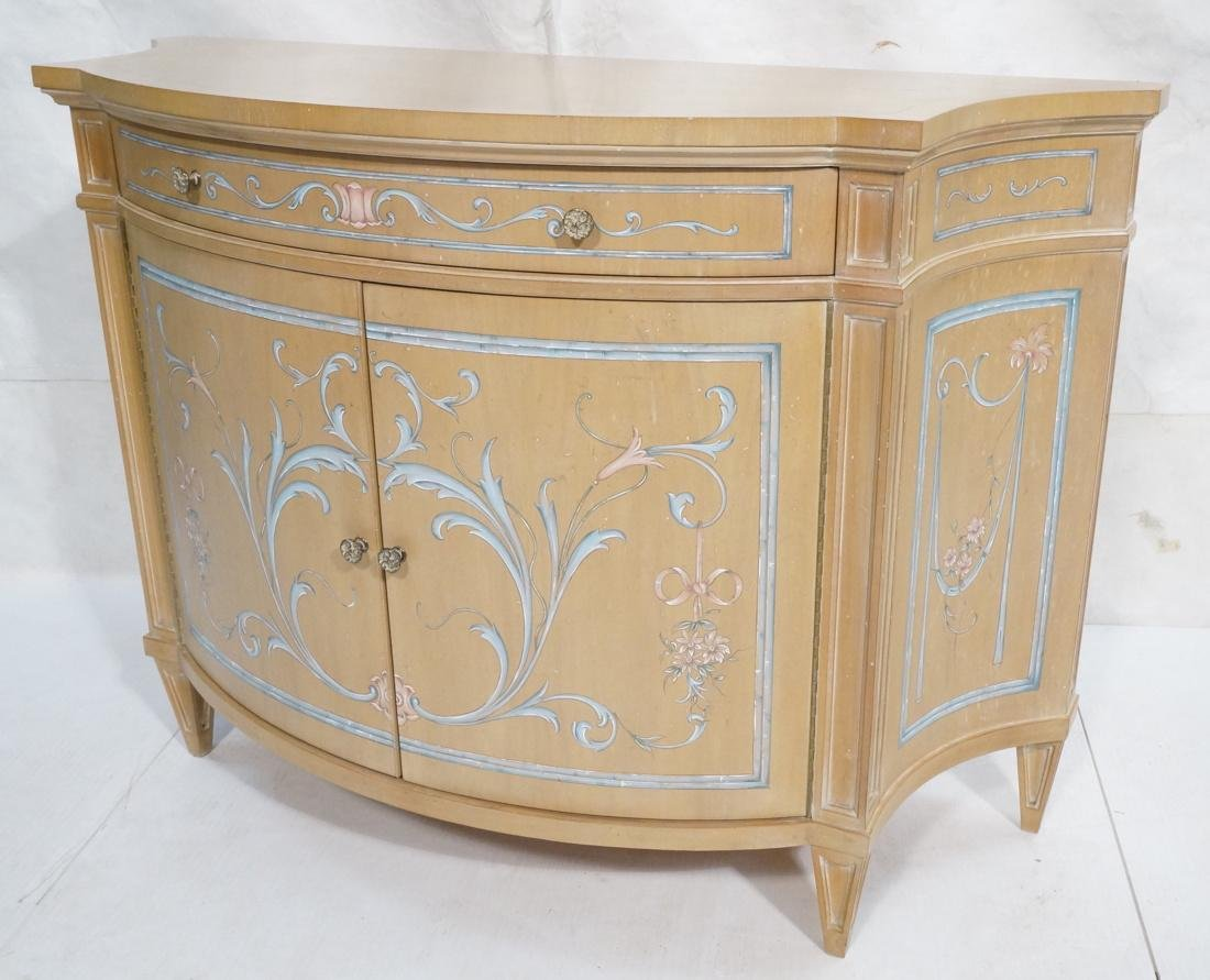 KARGES Custom Paint Decorated Commode Bombay Ches