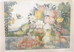 Vintage Hand Colored CURRIER  IVES Print Lands