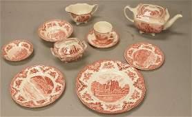 """68pc JOHNSON BROS England China Dinnerware """"Castl"""