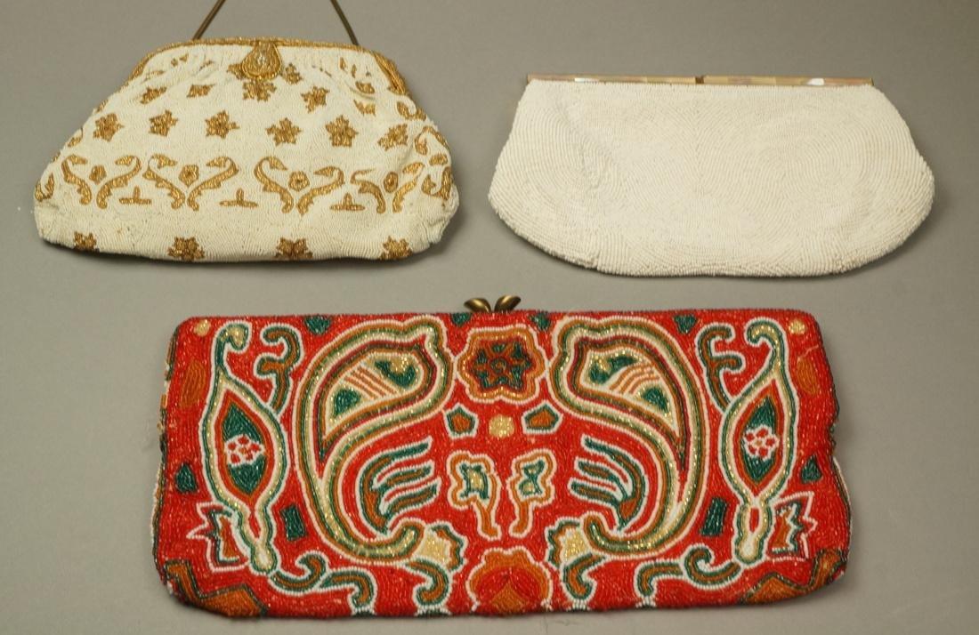 Lot Antique & Vintage Beaded Evening Bags Purses.