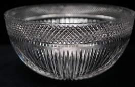 LIBBEY Elegant Cut Crystal Bowl Ribbed Starburst