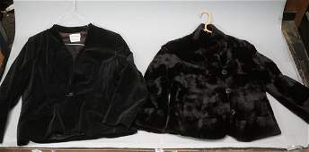 2pc Black Evening Jackets Blazers. Reversible str