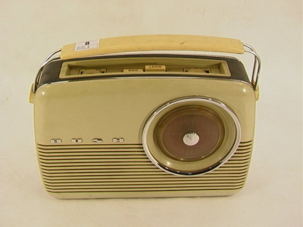 8: Busch English Plastic case portable Radio.  Battery