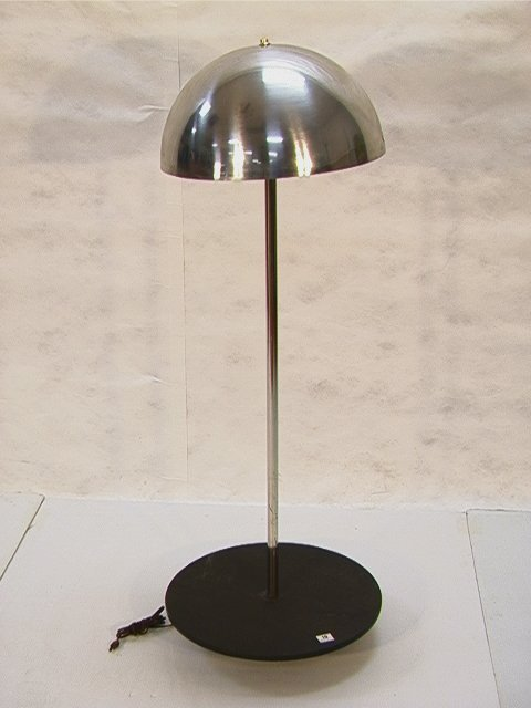 10: Modernist Chrome and Slate Floor Lamp.  Slate platf
