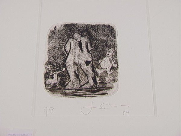 18: Sandro Chia Artist Proof Etching Signed and Dated.