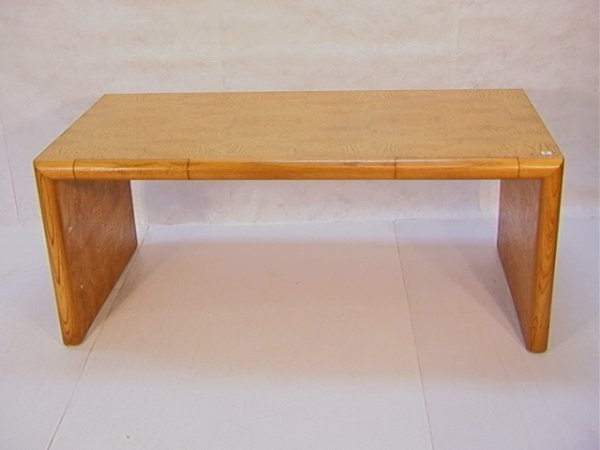 22: Edward Axel Roffman Burled Wood Desk Table Burled w
