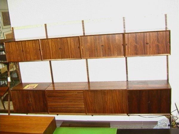 65: Poul Cadovius CADO Rosewood Wall Cabinet Unit  Inte