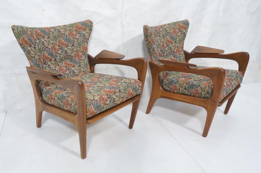 Pr Adrian Pearsall Lounge Chairs Flared Back Open
