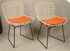 Pr HARRY BERTOIA Child's Chairs. Off white grid f
