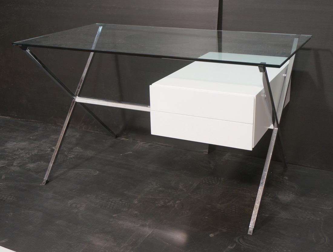 KNOLL Modern Glass Top Desk FRANCO ALBINI designe