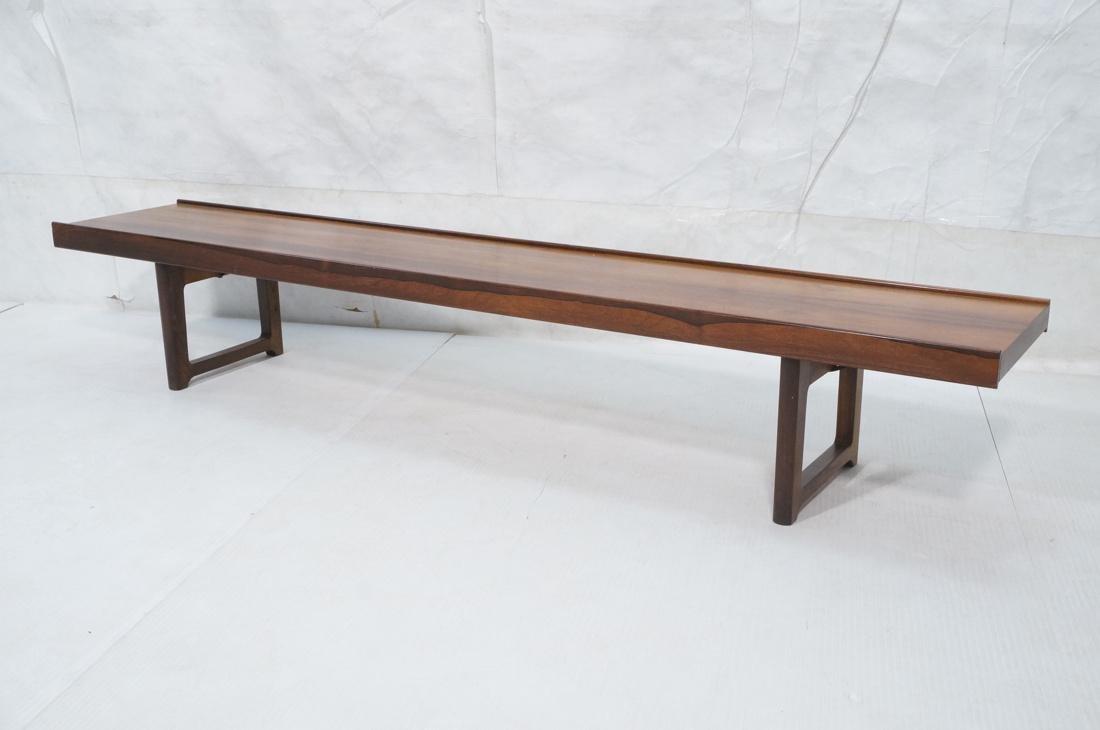 bruksbo mid century modern rosewood bench table