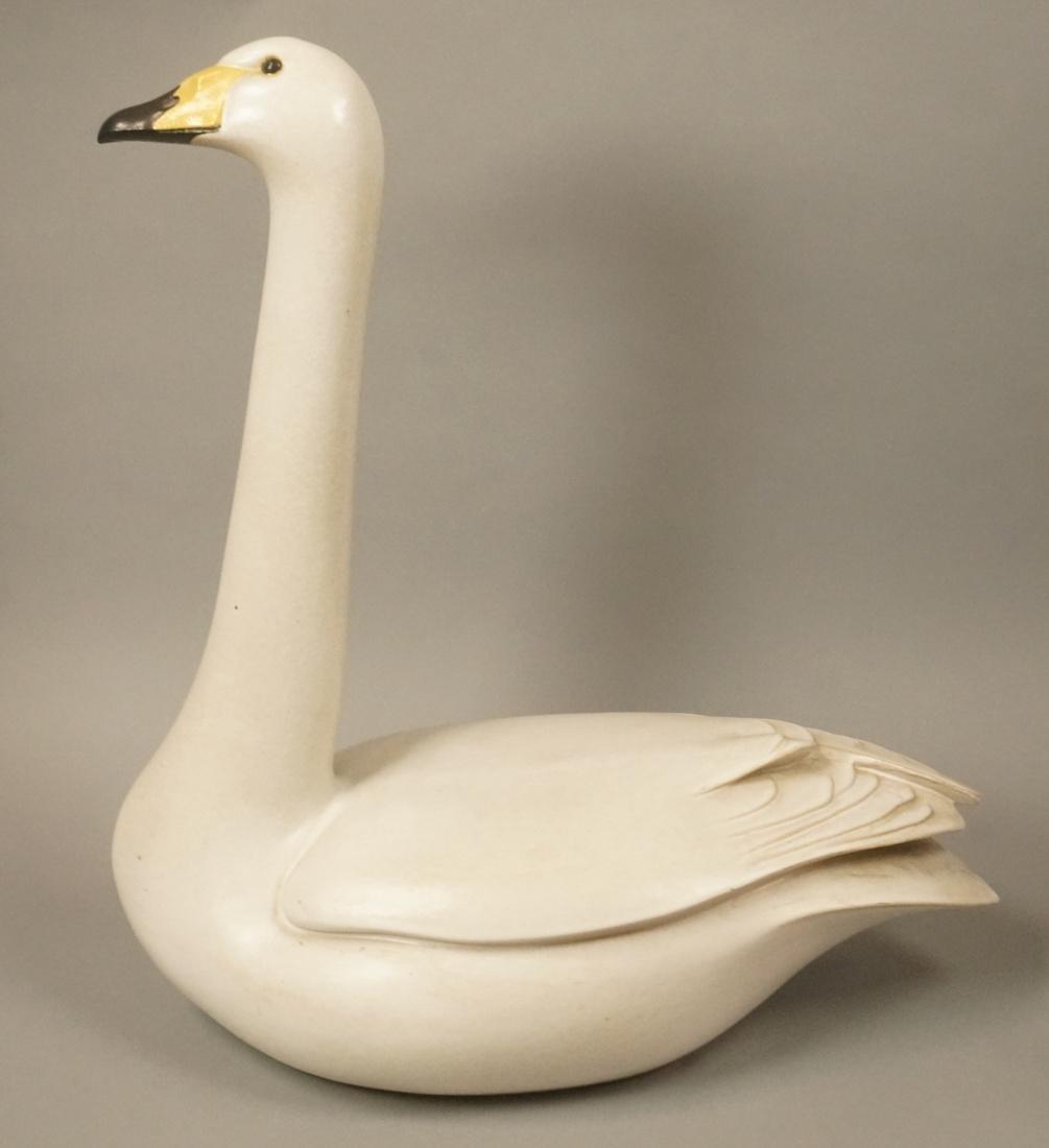 GUSTAVSBERG Large Figural Swan Sculpture. PAUL HO