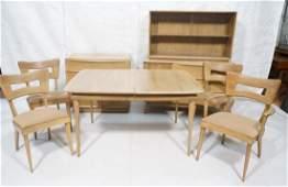 7pc HEYWOOD WAKEFIELD Modern Dining Set. Sable fi