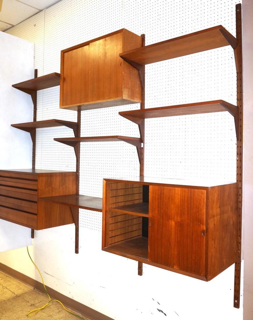 CADO Danish Teak Modern Hanging Wall Unit. Poul C