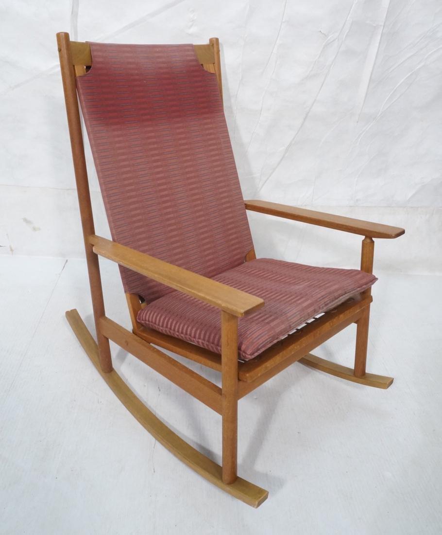 Hans Olsen Danish Teak Rocker. Modern Rocking Chair