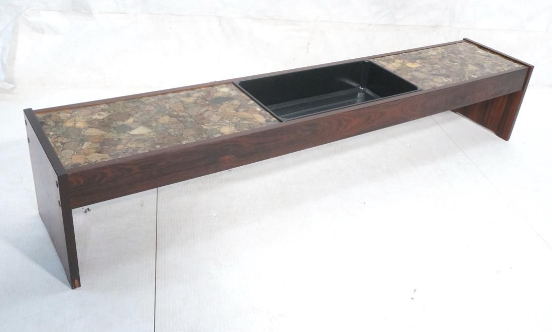 Rosewood Modern Low Coffee Table Planter. 2 inset