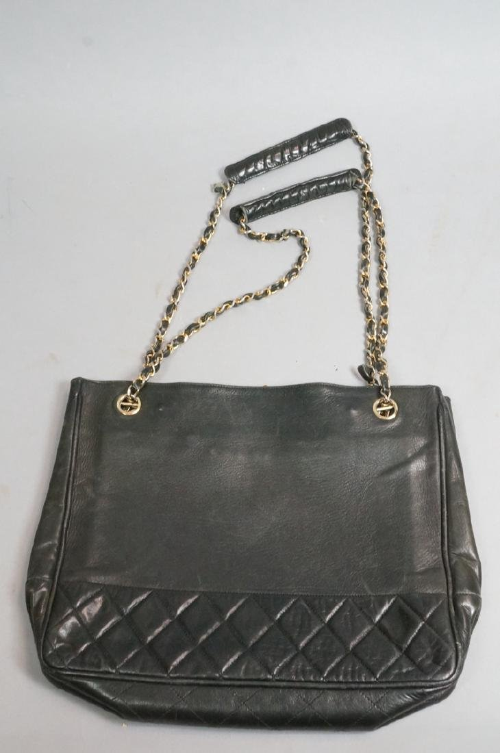 CHANEL Purse Hand Bag Brass Chain Quilted Leather