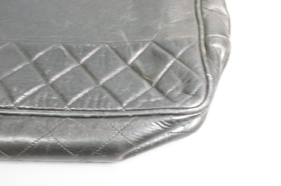 CHANEL Purse Hand Bag Brass Chain Quilted Leather - 2