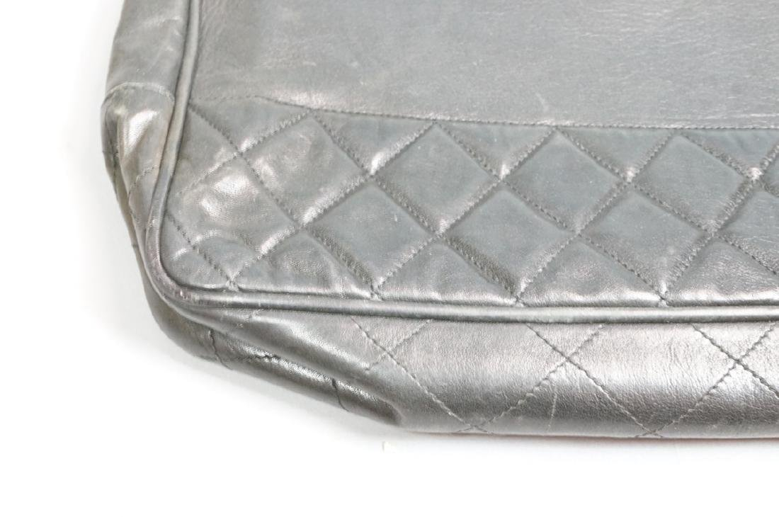 CHANEL Purse Hand Bag Brass Chain Quilted Leather - 3