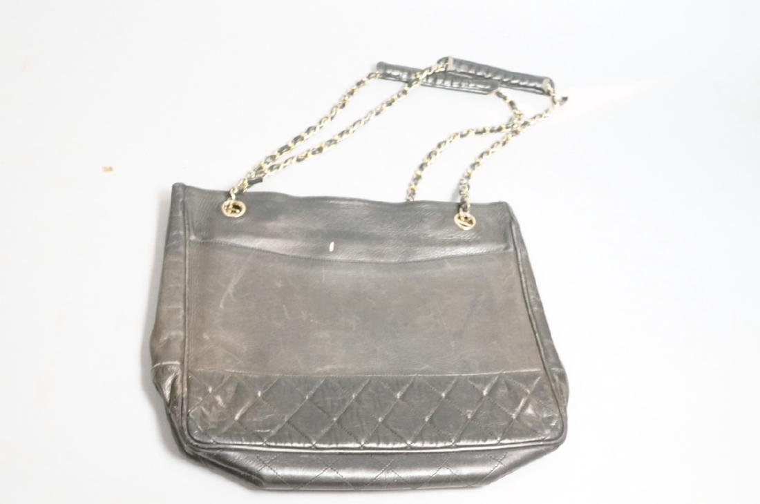 CHANEL Purse Hand Bag Brass Chain Quilted Leather - 6