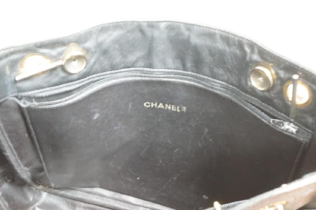CHANEL Purse Hand Bag Brass Chain Quilted Leather - 7