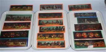 18pc Graphic Glass Magic Lantern Slides. Various