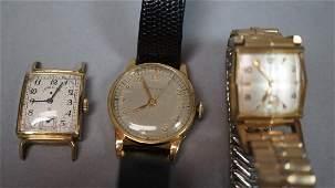 Lot 3 Vintage Men's Wrist Watches. GRUEN Veri-thi