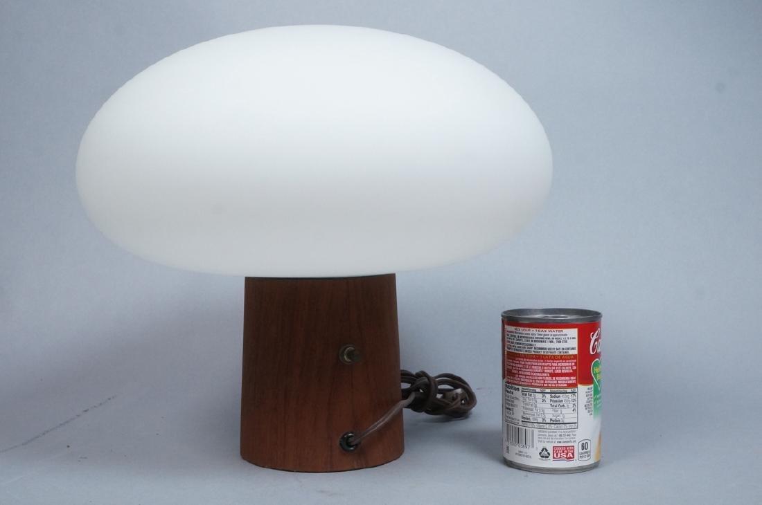LAUREL Walnut Glass Mushroom Table Lamp. Modern. - 3