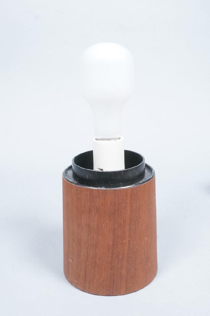 LAUREL Walnut Glass Mushroom Table Lamp. Modern. - 5