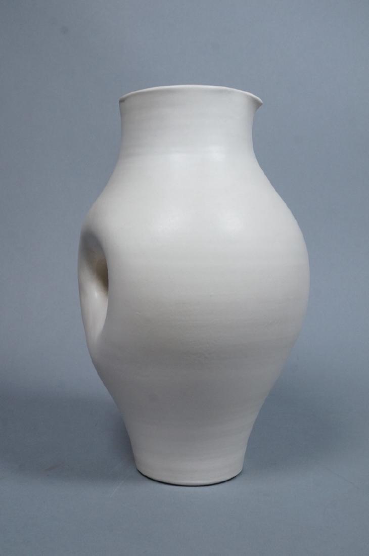 SUZANNE RAMIE Ceramic Tall Pitcher form Vase. MAD - 2
