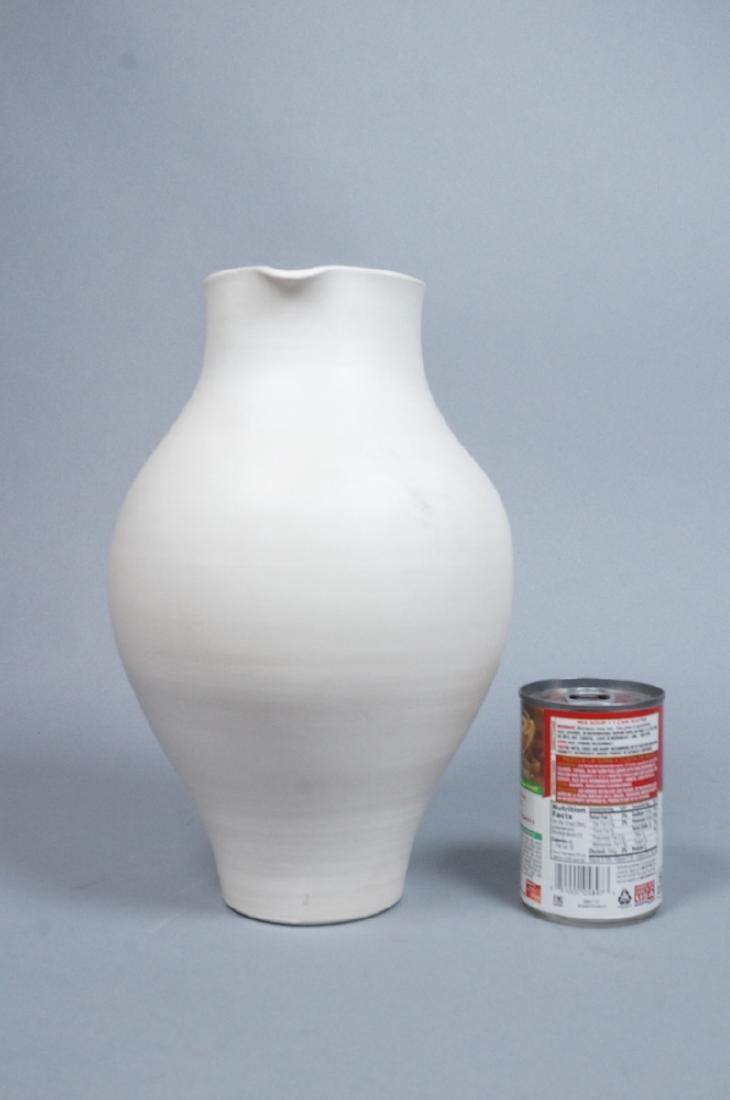 SUZANNE RAMIE Ceramic Tall Pitcher form Vase. MAD - 3