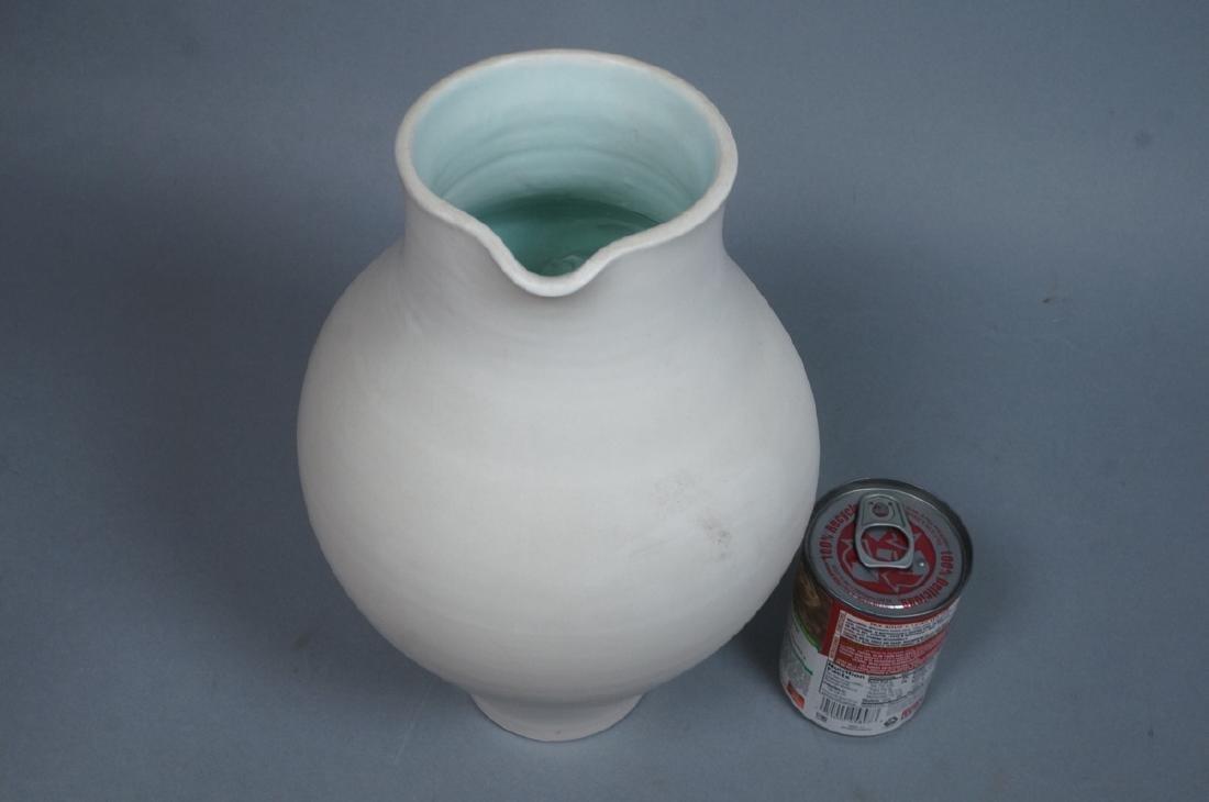SUZANNE RAMIE Ceramic Tall Pitcher form Vase. MAD - 4