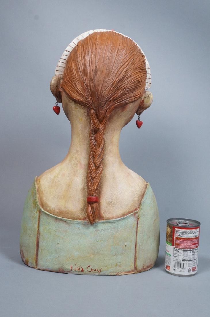 CHARLENE DOIRON REINHART Figural Ceramic Bust. Wo - 5