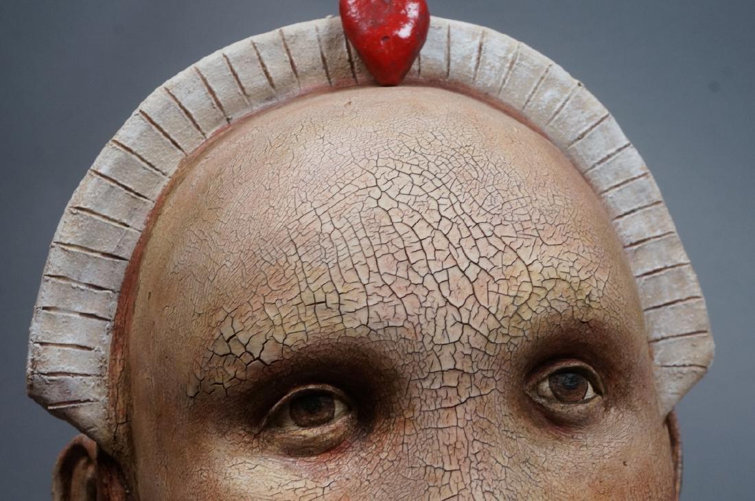 CHARLENE DOIRON REINHART Figural Ceramic Bust. Wo - 7