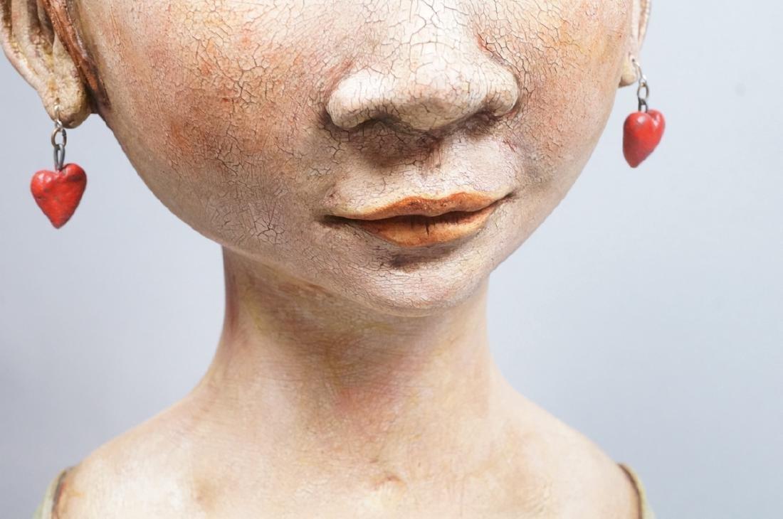 CHARLENE DOIRON REINHART Figural Ceramic Bust. Wo - 8