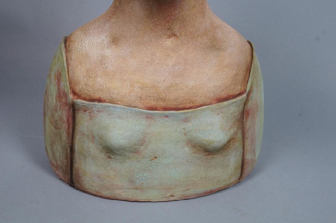 CHARLENE DOIRON REINHART Figural Ceramic Bust. Wo - 9