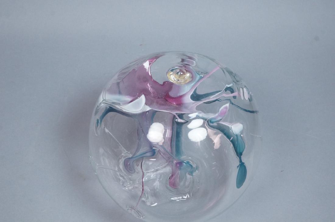 Signed PETER BRAMHALL Art Glass Sculpture. Modern - 5