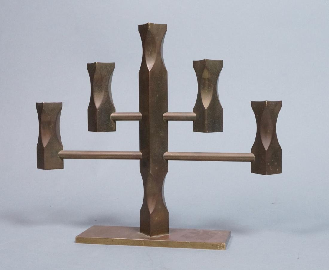 VALLON MASS 1986 Industrial Bronze Candle Holder.