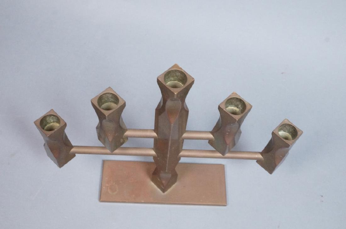 VALLON MASS 1986 Industrial Bronze Candle Holder. - 4