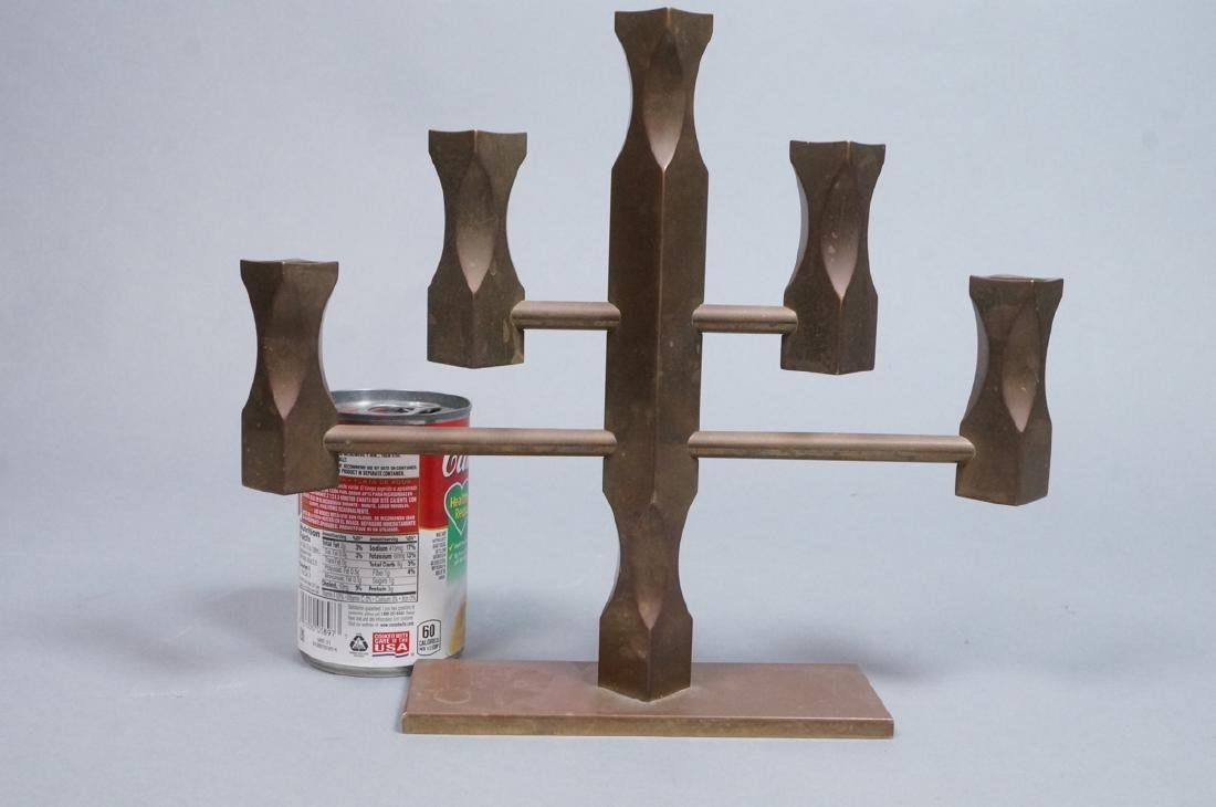 VALLON MASS 1986 Industrial Bronze Candle Holder. - 7