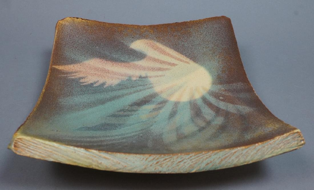 MADOURA Spanish Modern Pottery Center Bowl. Slab