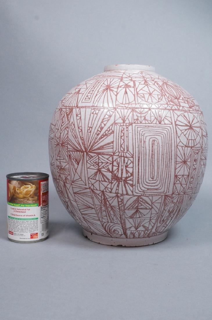 American Studio Pottery Modern Lamp Base Vase. Re - 3
