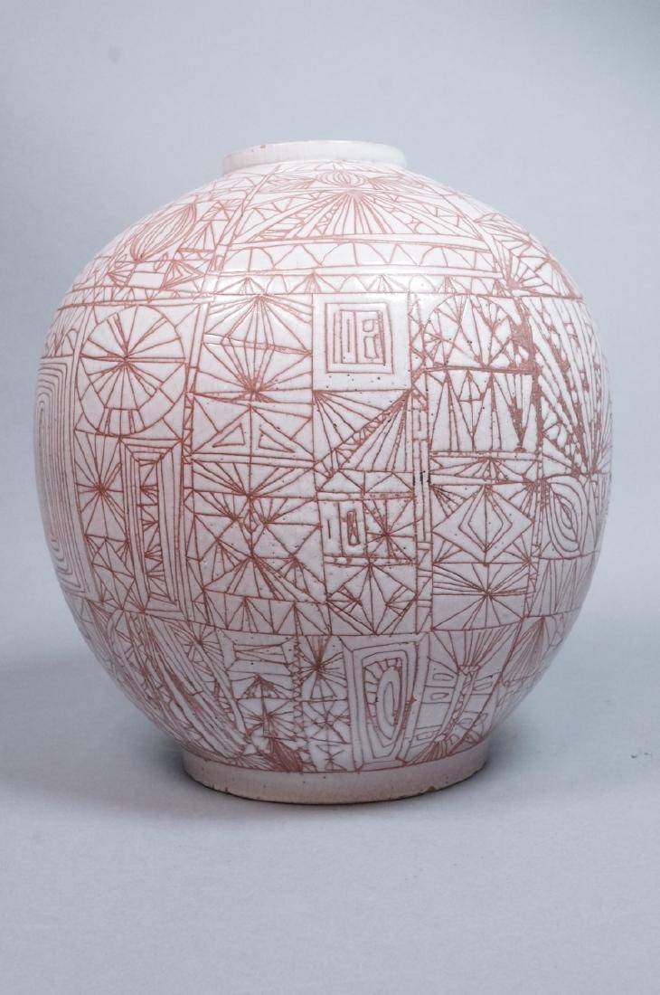 American Studio Pottery Modern Lamp Base Vase. Re - 4
