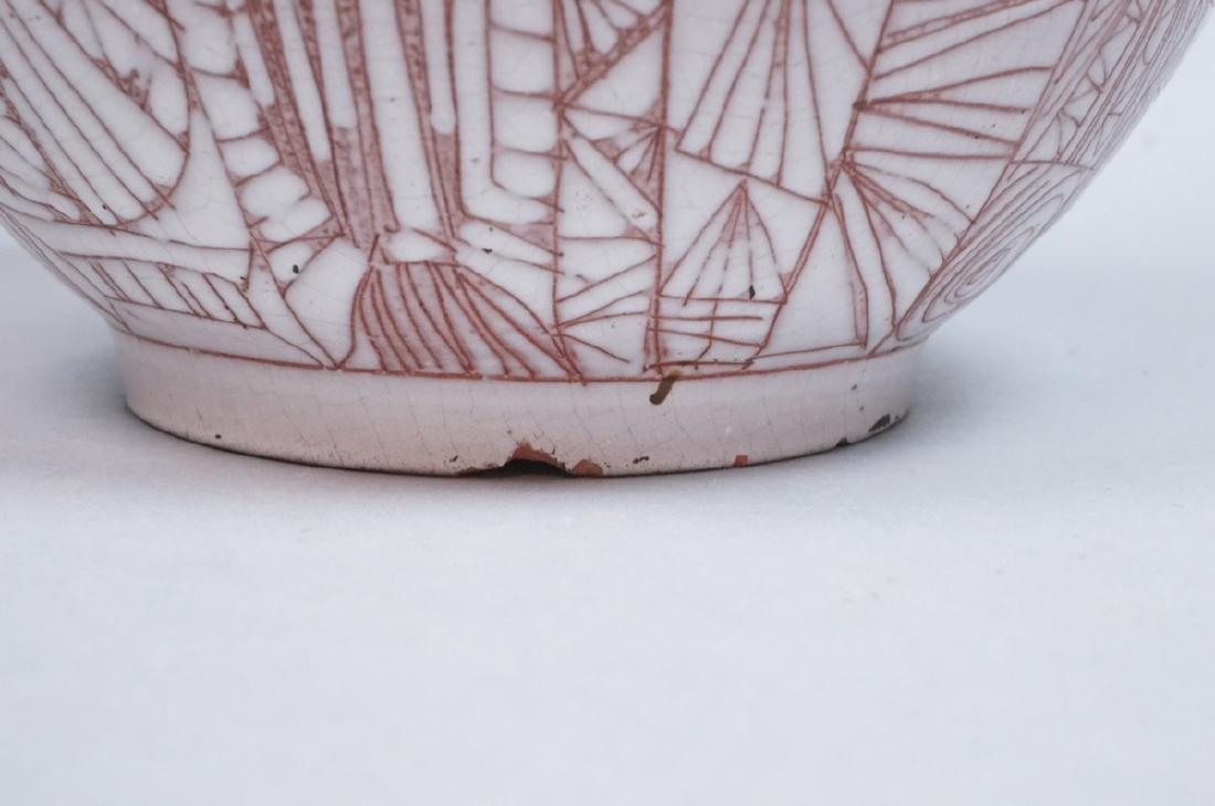 American Studio Pottery Modern Lamp Base Vase. Re - 6