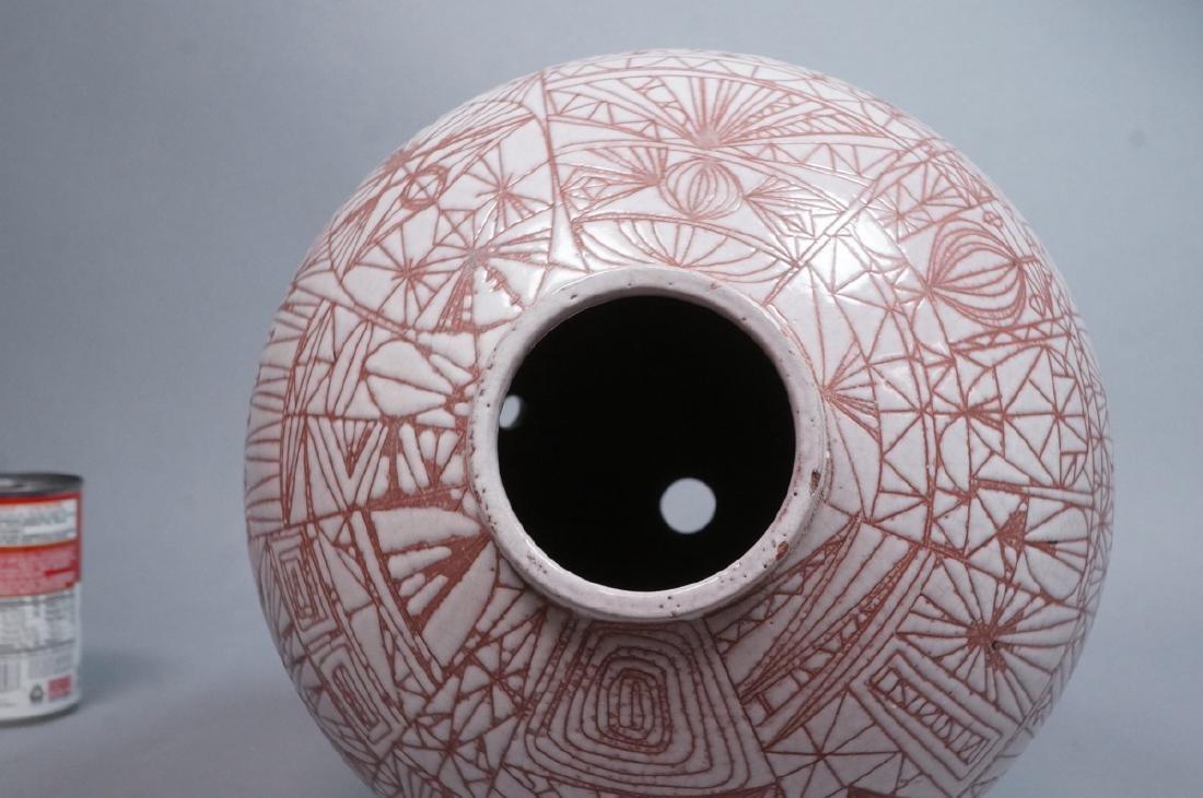 American Studio Pottery Modern Lamp Base Vase. Re - 7