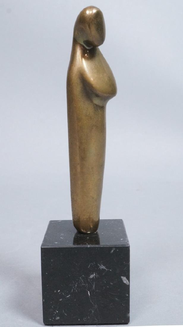 Small M.K. SHANNON Figural Bronze Sculpture. Stan